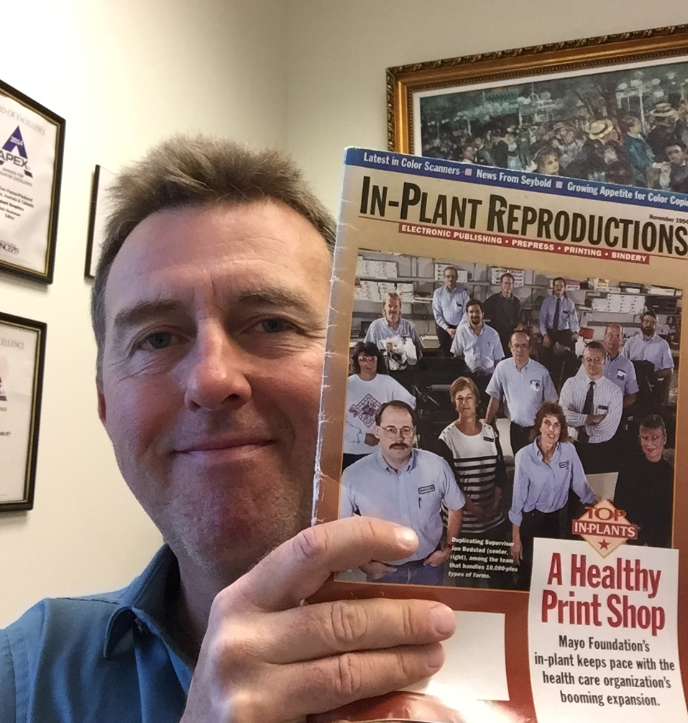 Editor Bob Neubauer holding his very first issue of IPG.