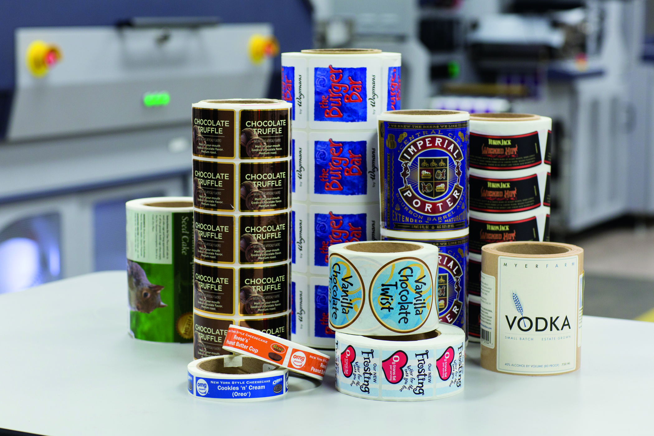 A wide range of retail and industrial labels account for much of TLF Graphics' business.