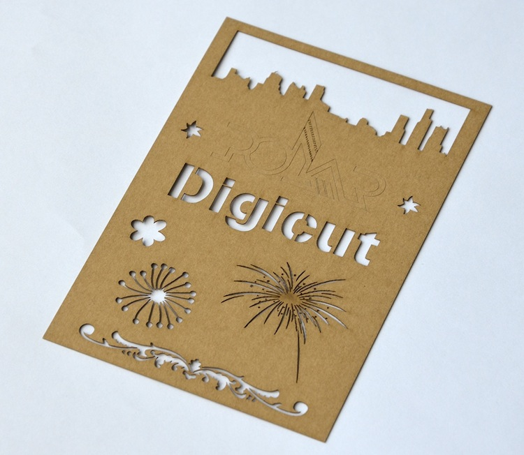 A wide variety of materials can be used with Digicut.