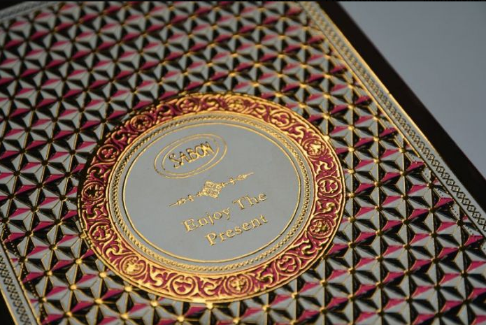 Sabon products require intricate foil applications.