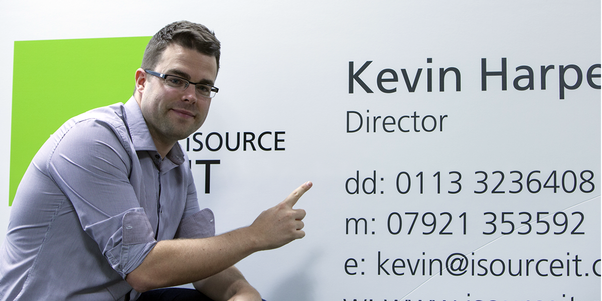 Kevin Harper, from isourceIT, was expecting the delivery of his regular sized business cards; instead he got the world's biggest.