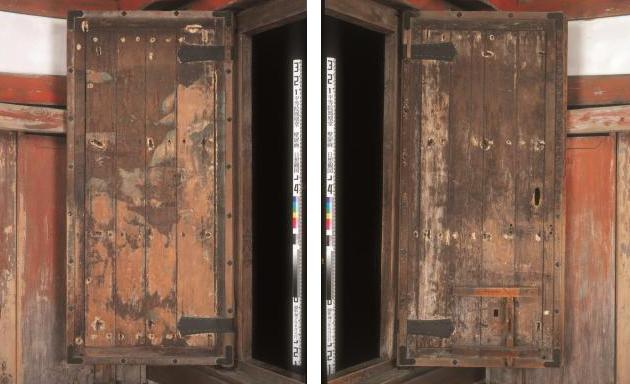 The original temple doors, constructed in 1053.