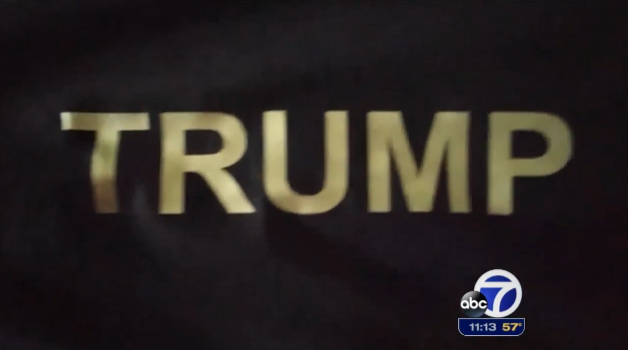 A San Francisco T-shirt printer added a profane message to a 14-year-old's Trump T-shirt. (Image via ABC 7)