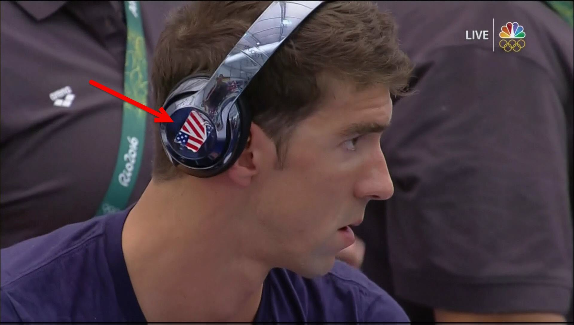 Michael Phelps Tried His Best To Cover Beats Logo During
