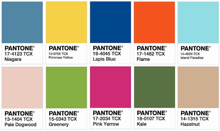 pantone names top 10 colors of spring 2017 promo marketing. Black Bedroom Furniture Sets. Home Design Ideas