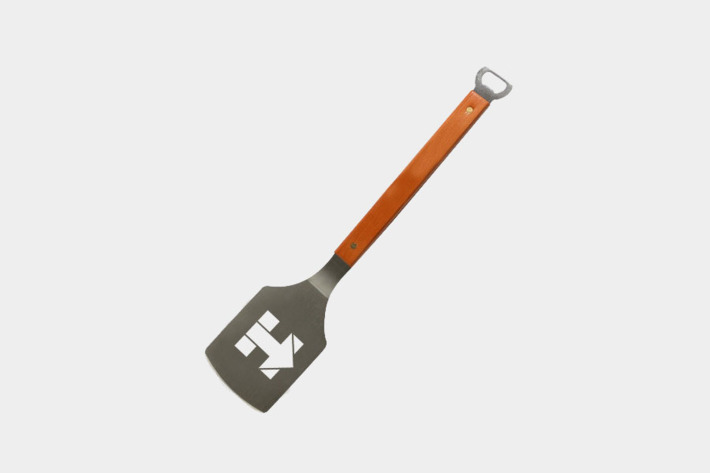 The fate of leftover campaign merchandise, like this Grillary Clinton spatula, is unknown. (Image via Grub Street)