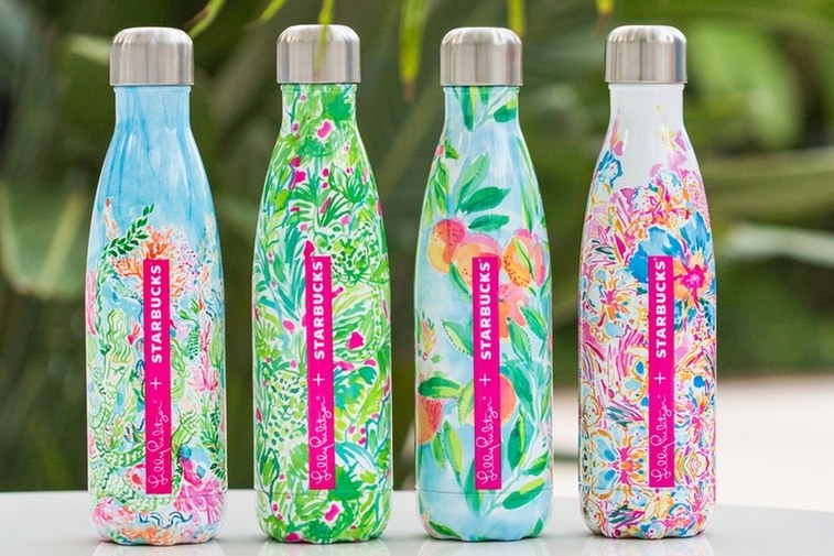 Starbucks Teams With Lilly Pulitzer, S'well for Water