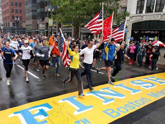 Boston Marathon participants felt Adidas' finishers email was insensitive. (Image via Worbar)