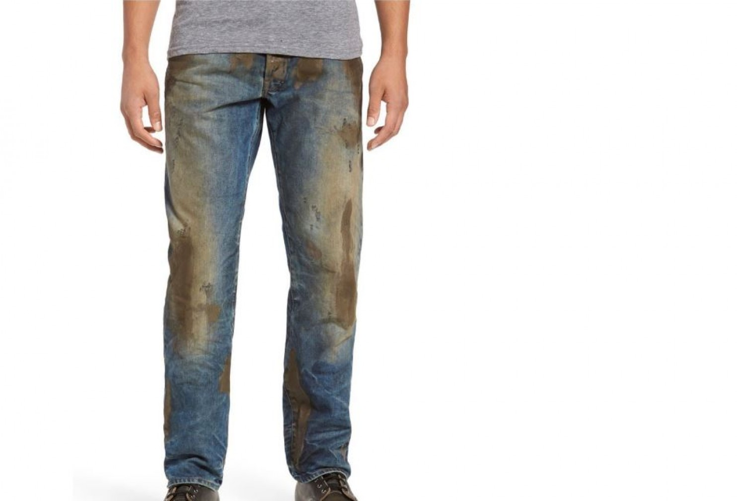 Internet Tears Nordstrom Apart For 425 Muddy Jeans