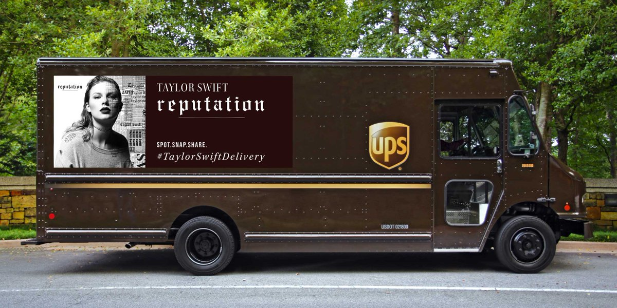 Ups Makes History Through Vehicular Promotion Of Taylor