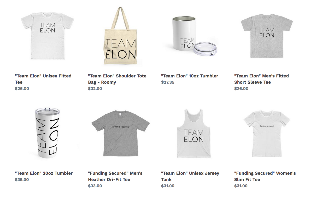 Team Elon Musk Merch