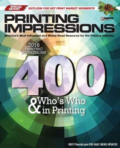 The 2016 Printing Impressions 400