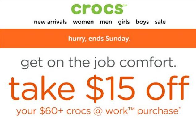 Crocs Email Promotion